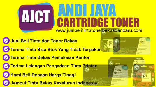 Jual beli tinta, cartridge, toner baru dan bekas