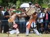 Ilustrasi Tarian Caci Manggarai Flores NTT